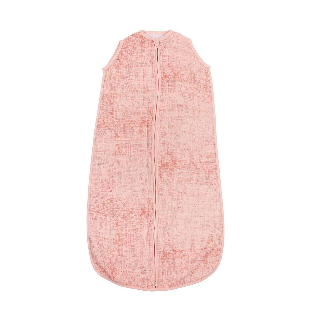 Meyco Fine lines hydrofiele baby slaapzak 90 cm roze, Roze