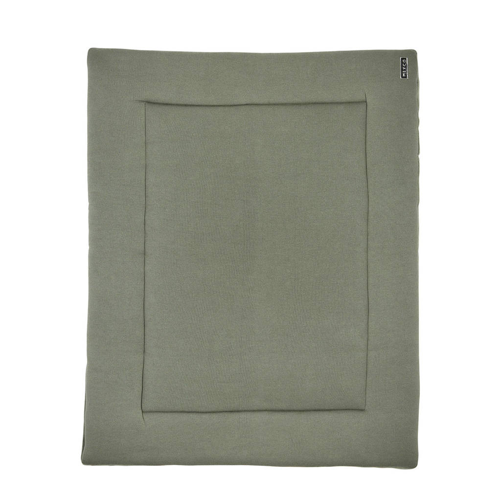 Meyco Knit Basic boxkleed 77x97 cm forrest green, FORREST GREEN