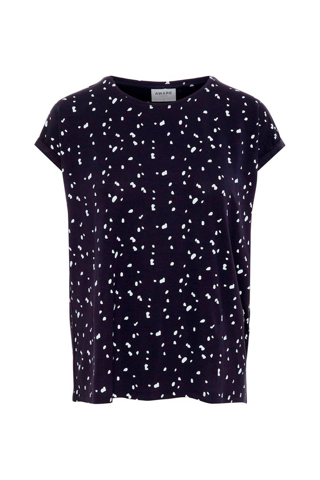 AWARE by VERO MODA lyocell top met all over print marine, Marine