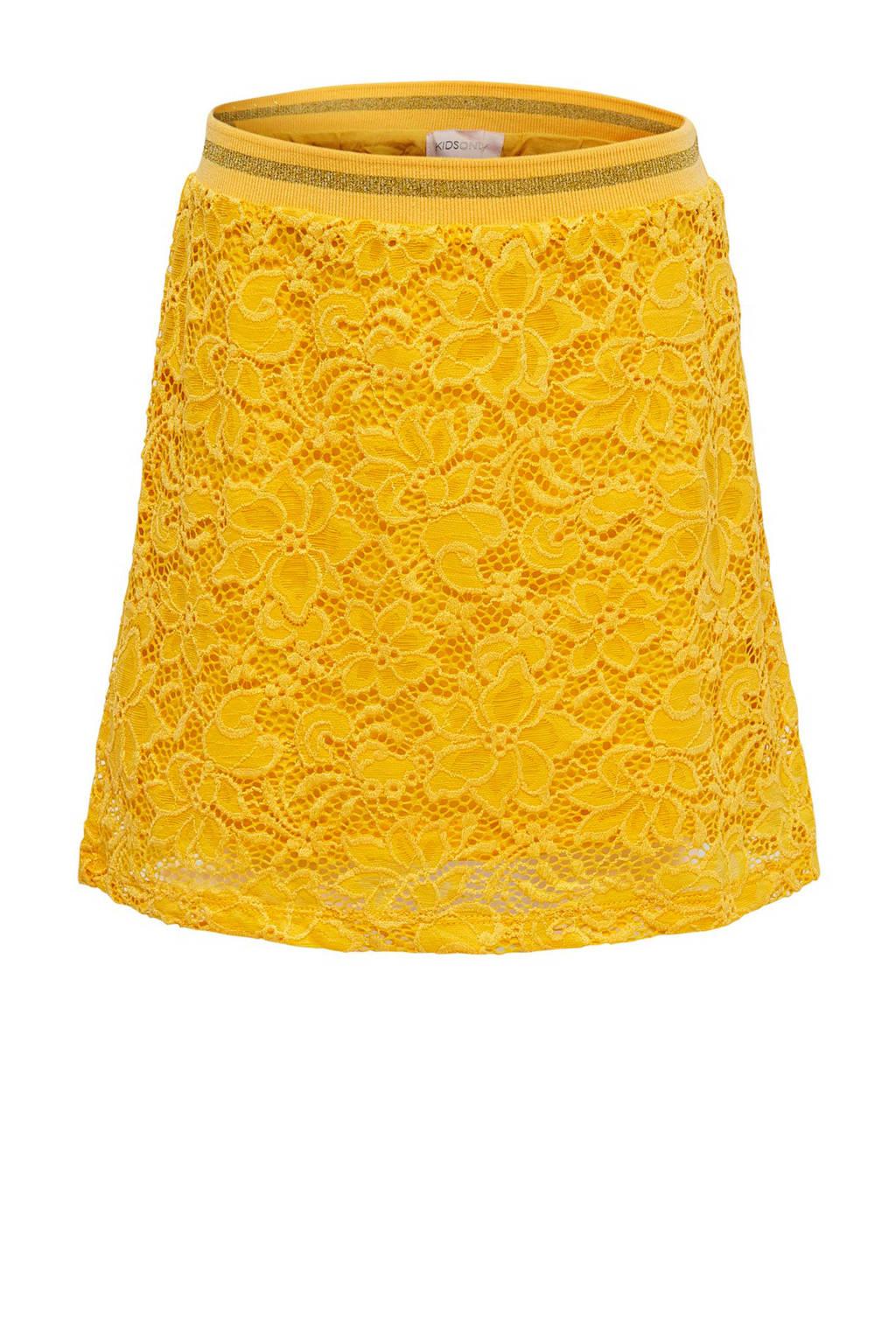 KIDSONLY kanten rok Amaze geel, Geel