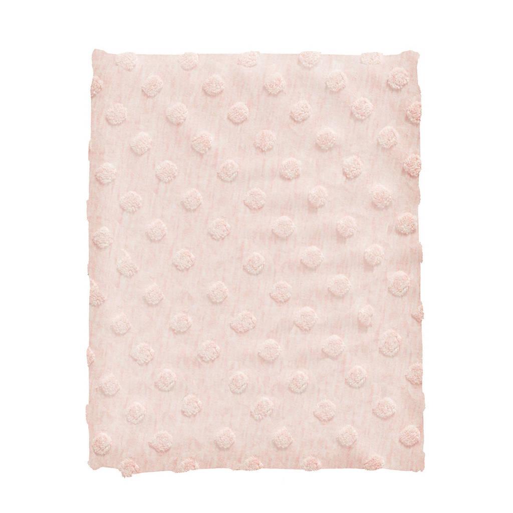 Cottonbaby wiegdeken dot 75x90 cm roze, Roze