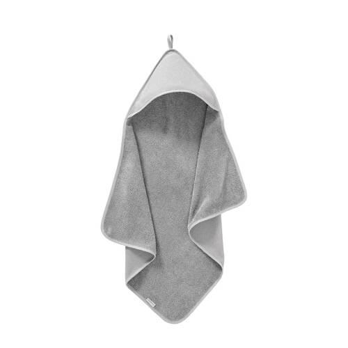 Cottonbaby badcape diamantwafel 75 x 75 cm grijs kopen