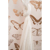Cottonbaby multidoek soft XL 120 x 120 cm stipje wit/goud, Wit/goud