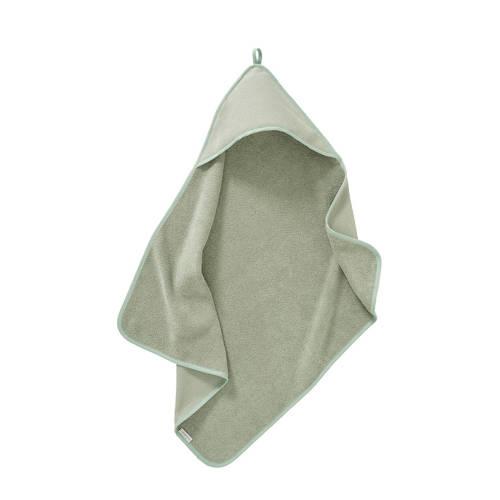 Cottonbaby badcape diamantwafel 75 x 75 cm oudgroen kopen