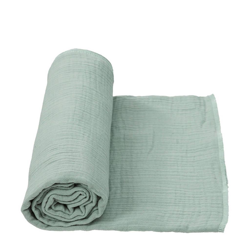 Cottonbaby multidoek soft XL 120 x 120 cm oudgroen, Oudgroen
