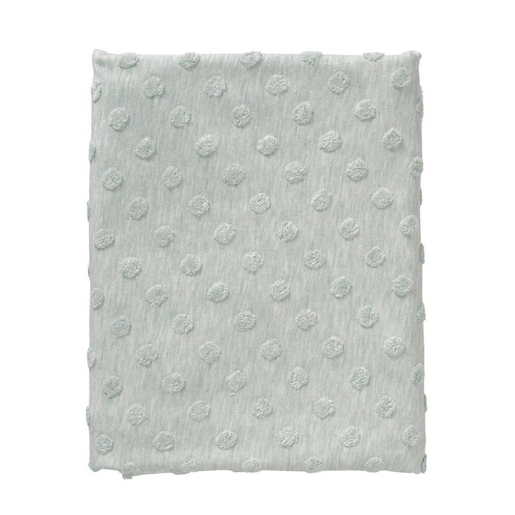 Cottonbaby ledikantdeken dot 120x150 cm groen, Groen