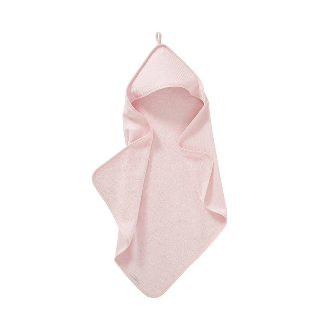 Cottonbaby badcape diamantwafel 75 x 75 cm roze, Roze