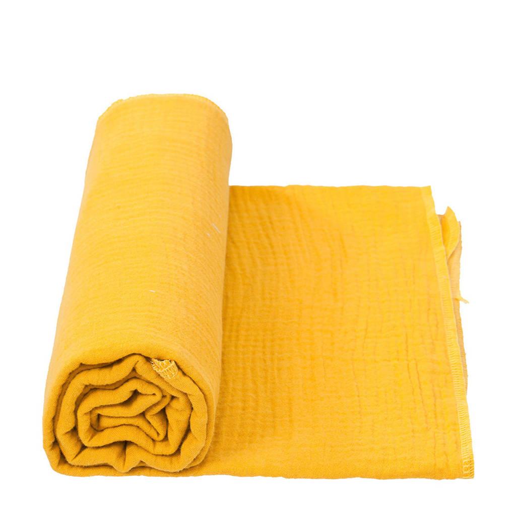 Cottonbaby multidoek soft XL 120 x 120 cm okergeel, Okergeel