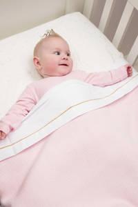 Cottonbaby baby wiegdeken diamantwafel 75x90 cm roze, Lichtroze