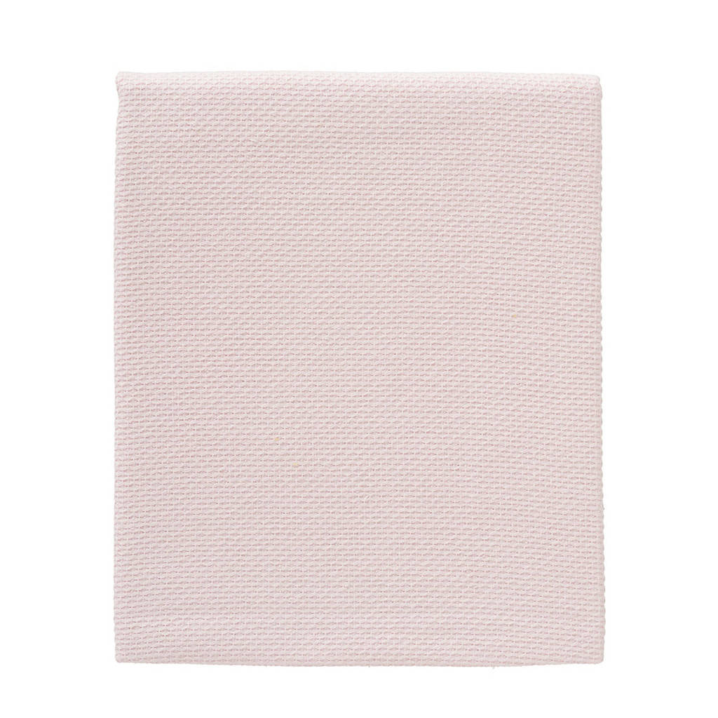 Cottonbaby wiegdeken diamantwafel 75x90 cm roze, Lichtroze