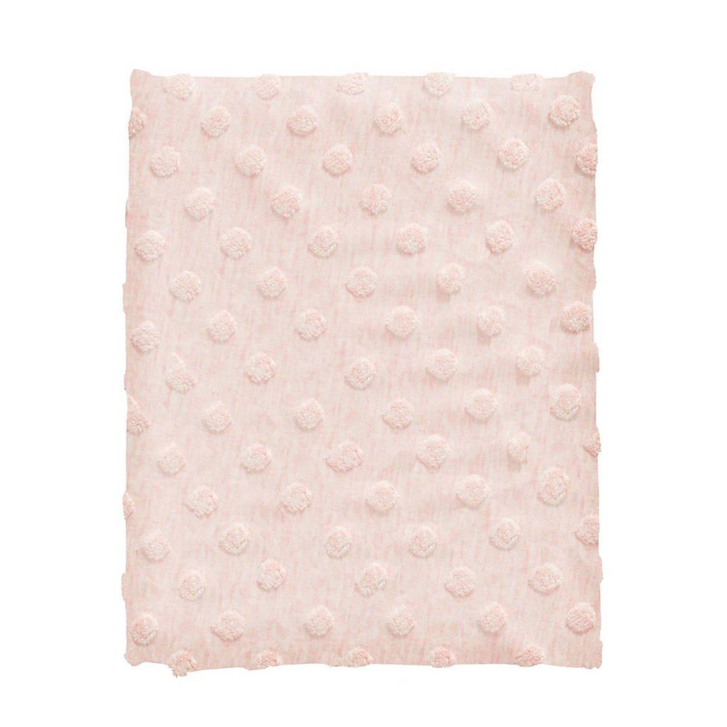 Cottonbaby ledikantdeken dot 120x150 cm roze, Roze