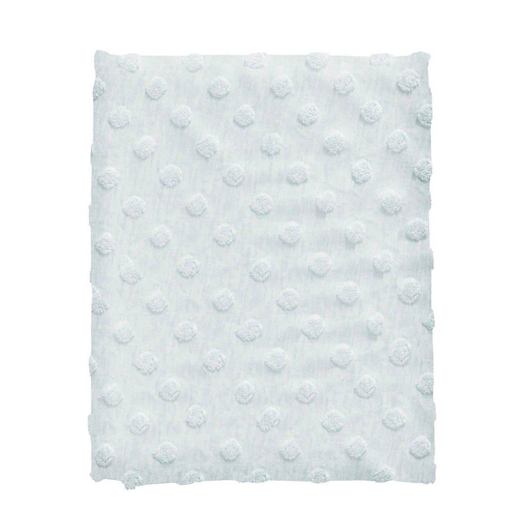 Cottonbaby ledikantdeken dot 120x150 cm lichtblauw, Lichtblauw