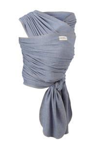 Babylonia draagdoek tricot-slen bamboo denim, Denimblauw