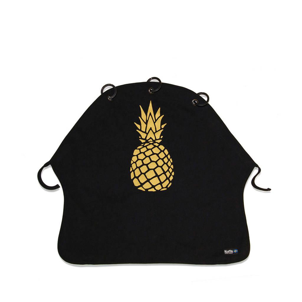 Kurtis beschermdoek Pineapple, Zwart/goud