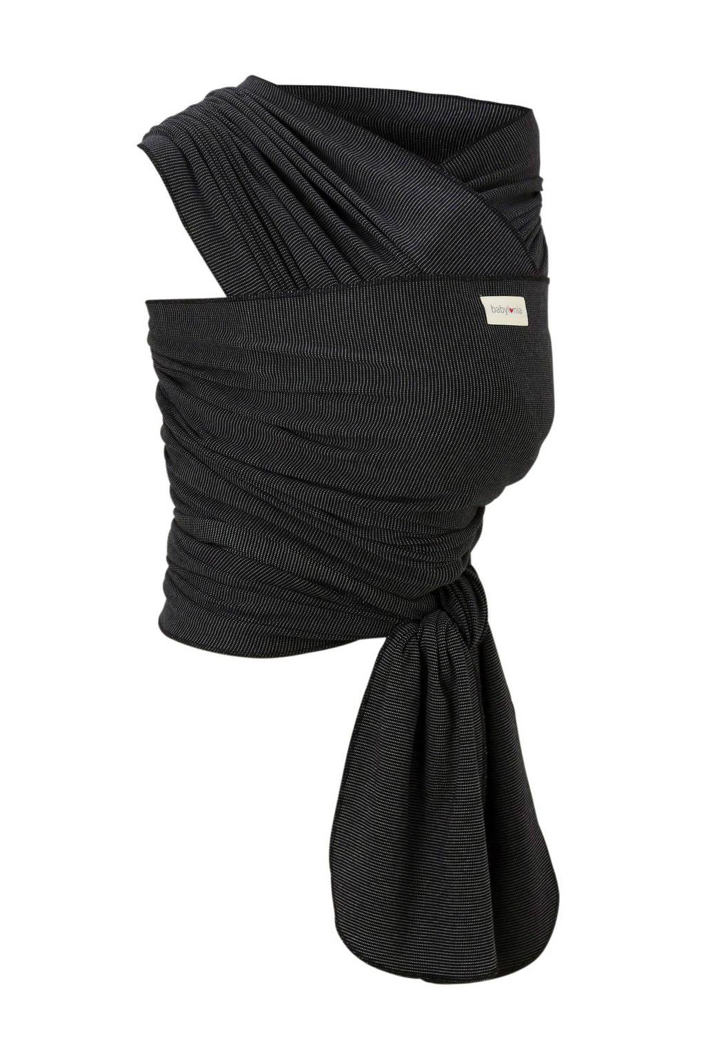 Babylonia draagdoek tricot-slen bamboo zwart, Zwart