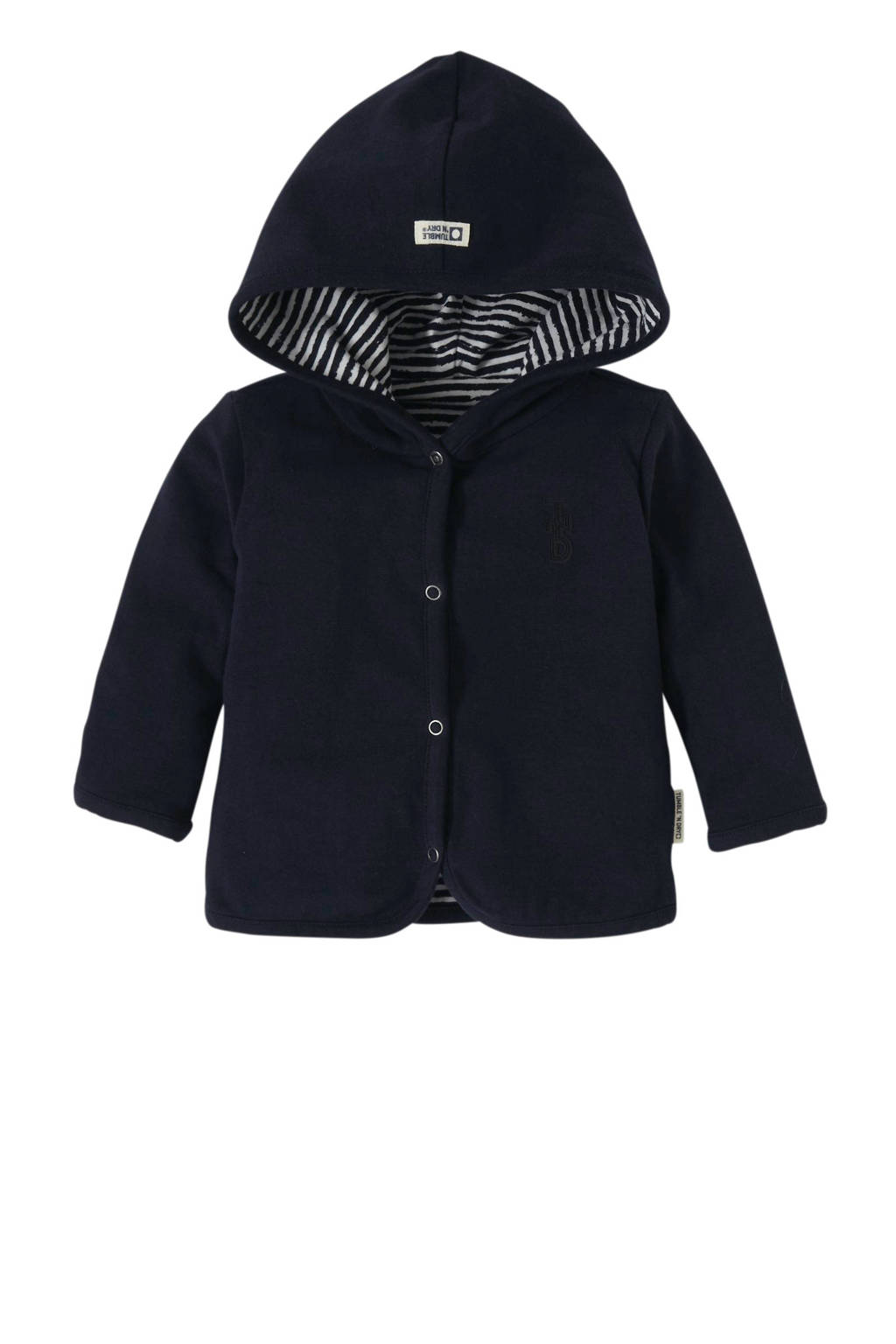 Tumble 'n Dry Zero newborn baby vest Qinn met all over print blauw, Donkerblauw/wit
