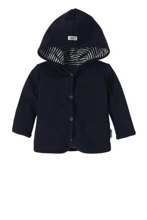 newborn baby vest Qinn met all over print blauw