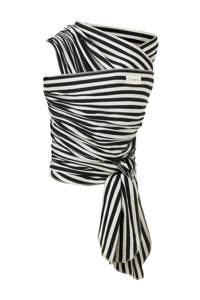 Babylonia draagdoek tricot-slen bamboo zwart/wit streep, Zwart/wit