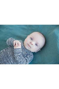 Tumble 'n Dry Zero newborn baby longsleeve, Donkerblauw/wit