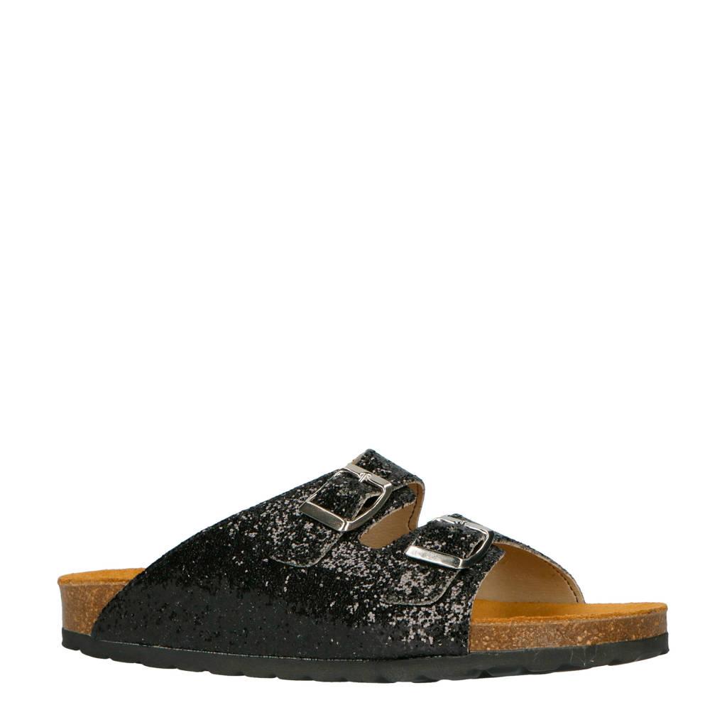 Bianco Betricia slippers zwart, Zwart
