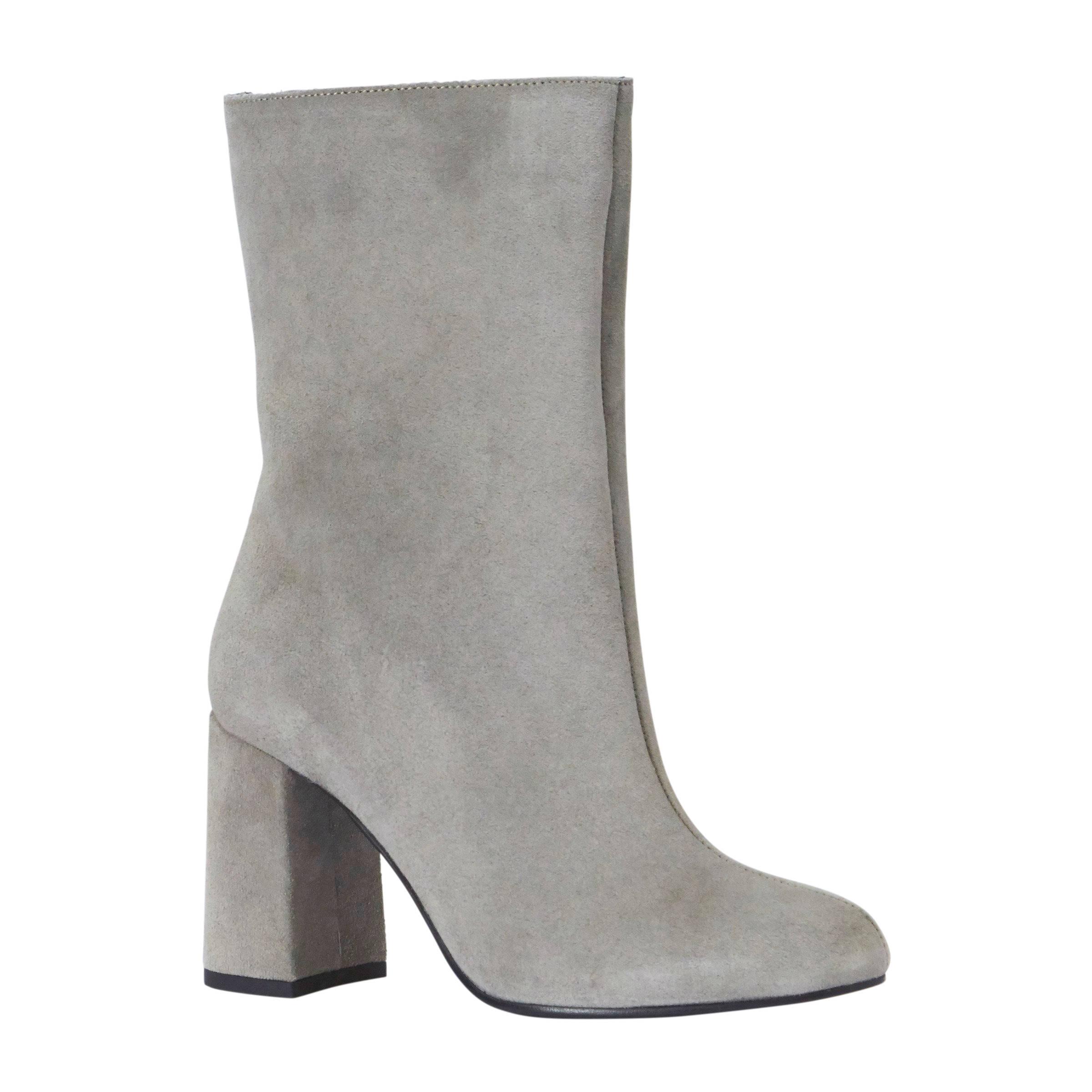 stretch laarzen grijs