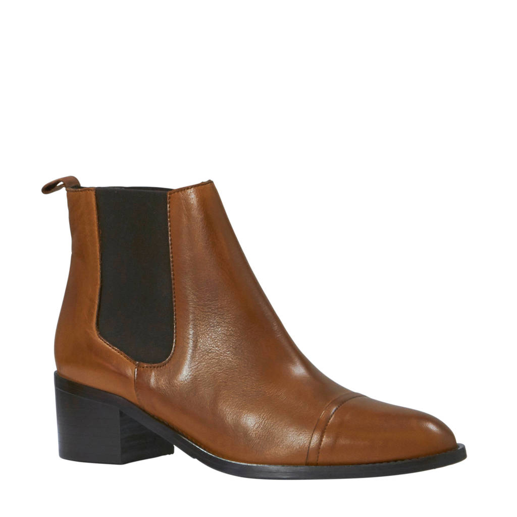 Bianco Carol chelsea boots cognac, Cognac/bruin