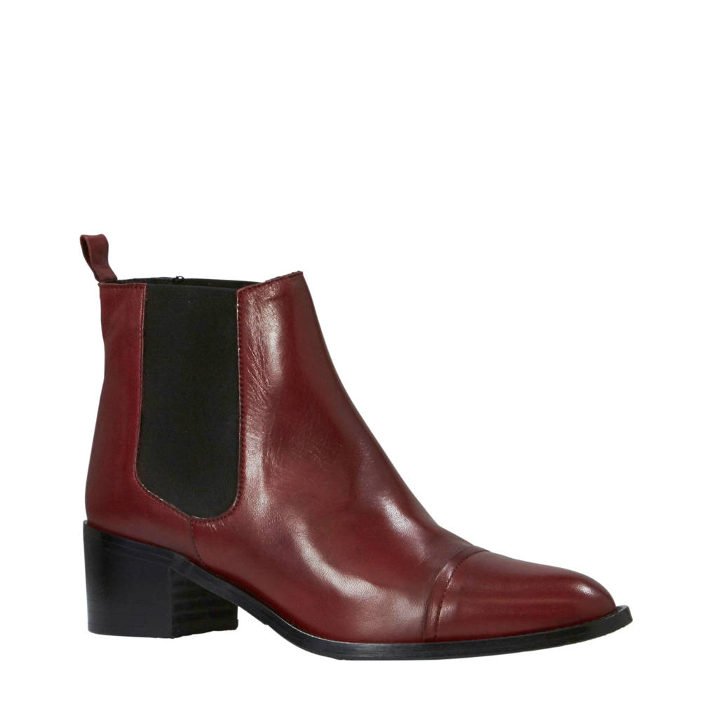 Bianco Carol chelsea boots donkerrood, Donkerrood
