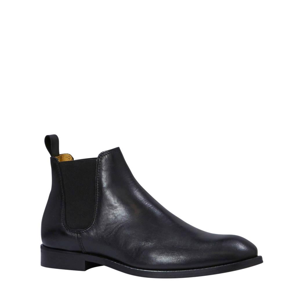 Bianco Abbot leren chelsea boots zwart, Zwart