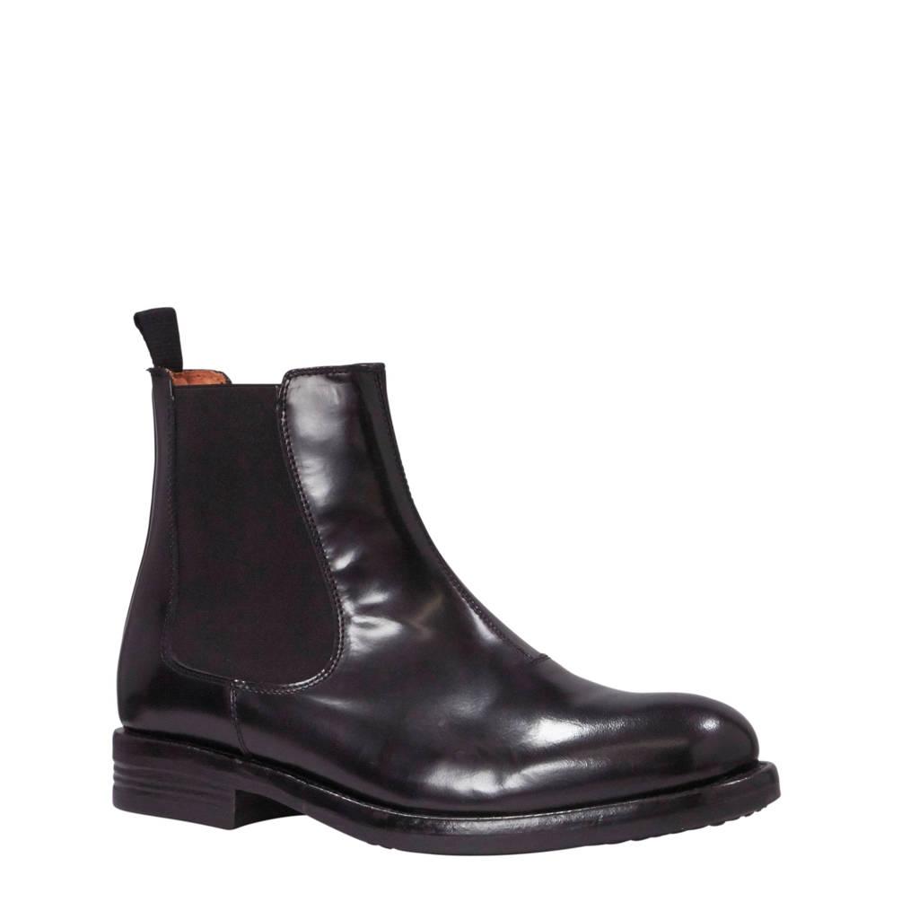 Bianco Ace leren chelsea boots zwart, Zwart