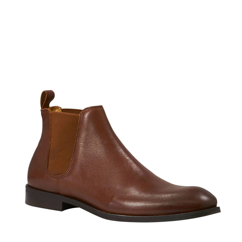 Bianco Abbot chelsea boots cognac, Bruin
