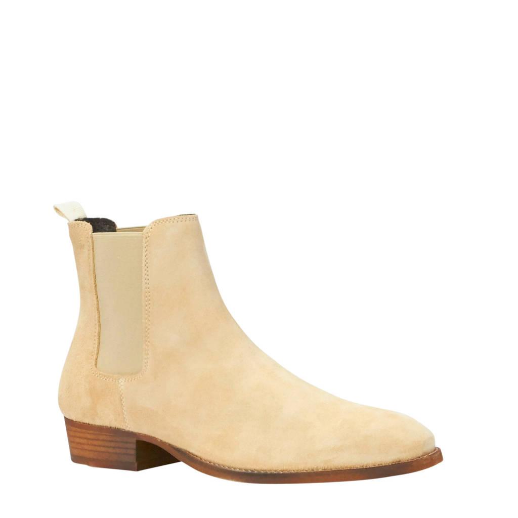 Bianco Beack leren chelsea boots zand, zand/beige
