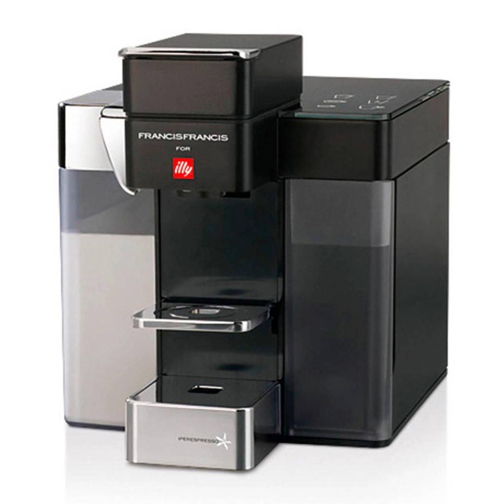 Illy Y5 & MILK koffiemachine, Zwart