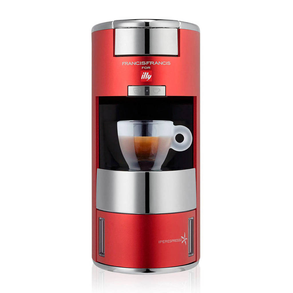 Illy X9 koffiezetapparaat, Rood