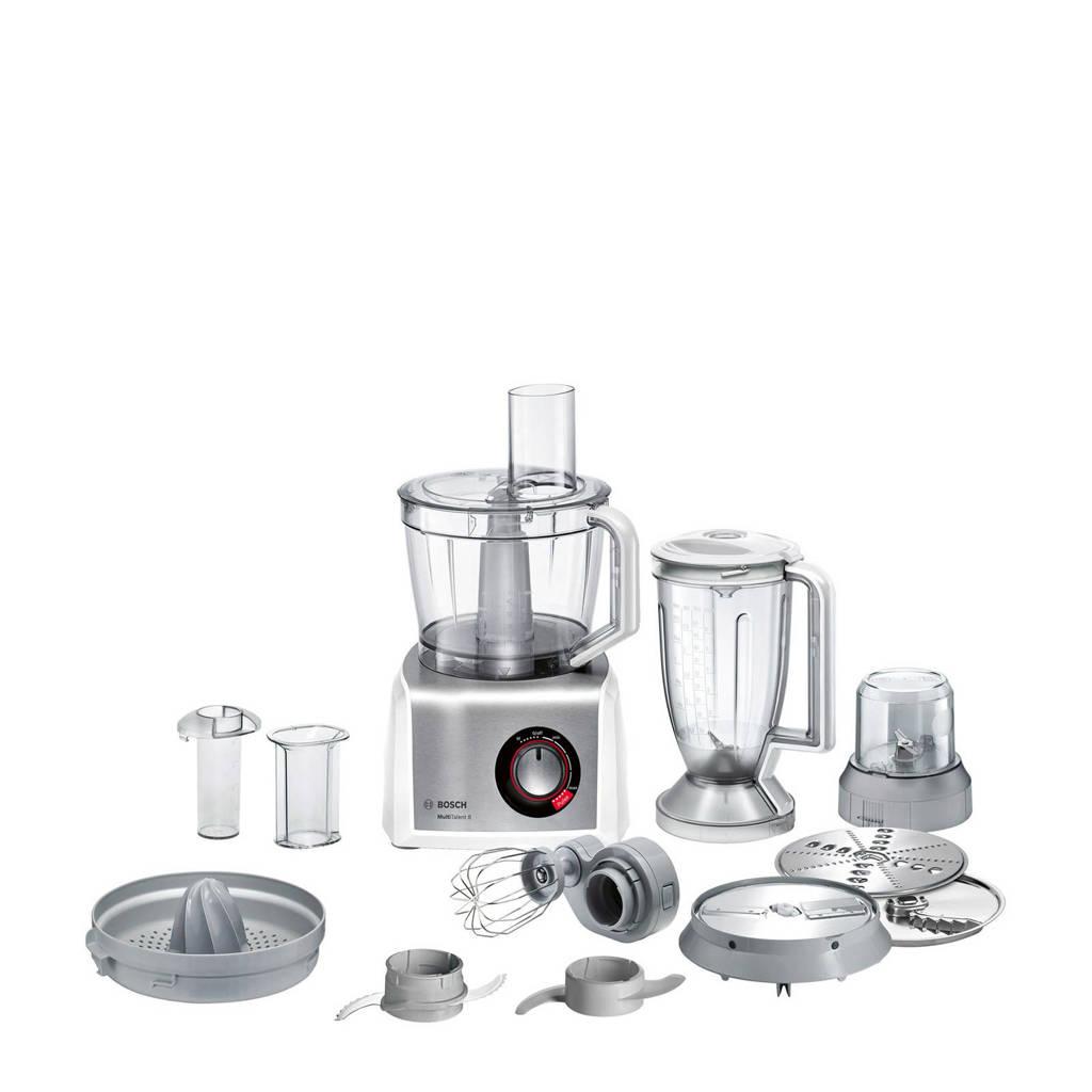 Bosch MC812S844 keukenmachine, Zilver, wit