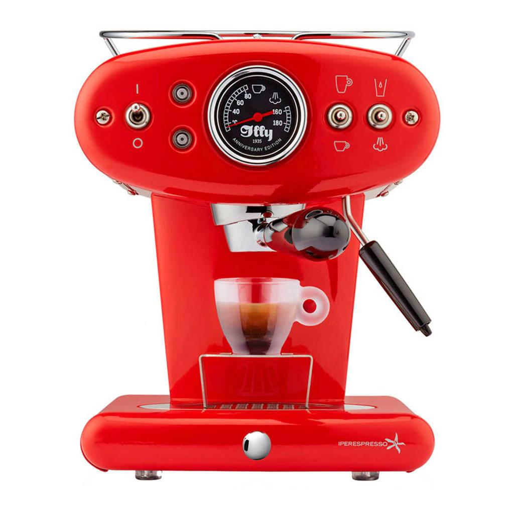 Illy X1 Anniversary Espresso & Coffee espressomachine, Rood