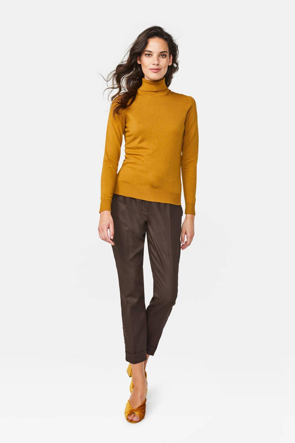 WE Fashion top met wol tapenade, Tapenade