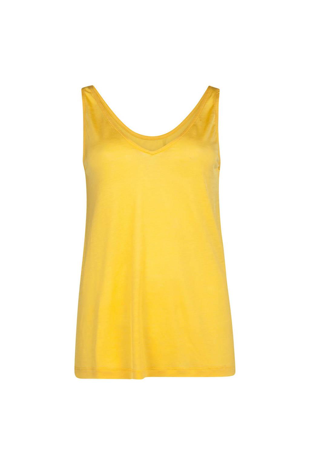 WE Fashion singlet geel, Geel