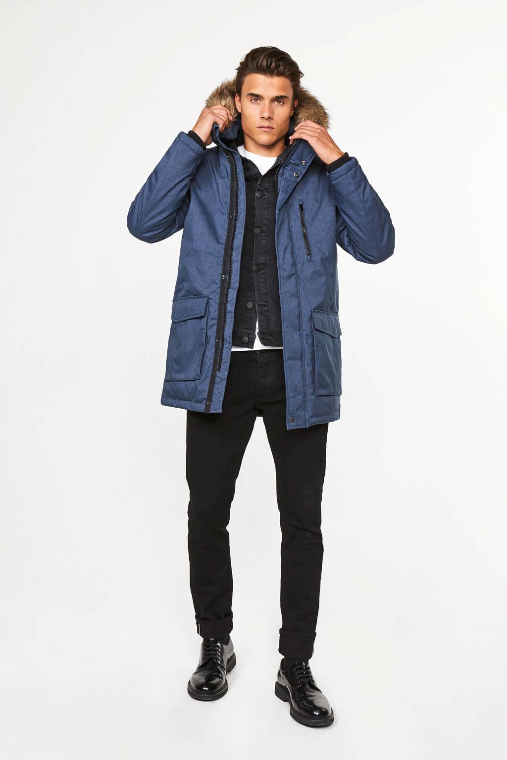 WE Fashion winterjas blauw, Blauw