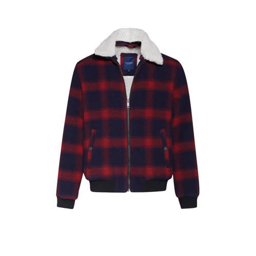 WE Fashion Blue Ridge geruite tussenjas met wol ma