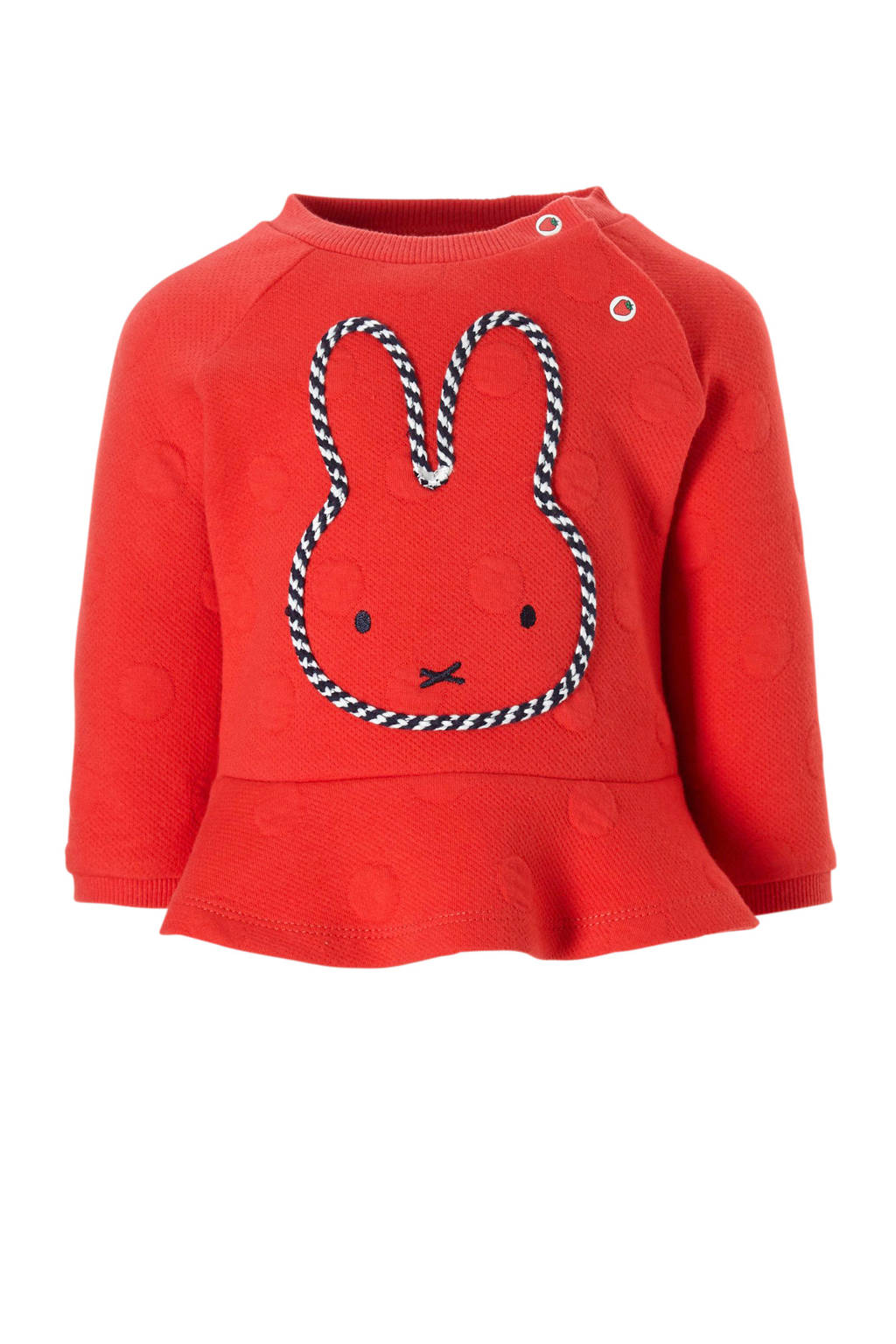 C&A nijntje sweater met stippen rood, Rood