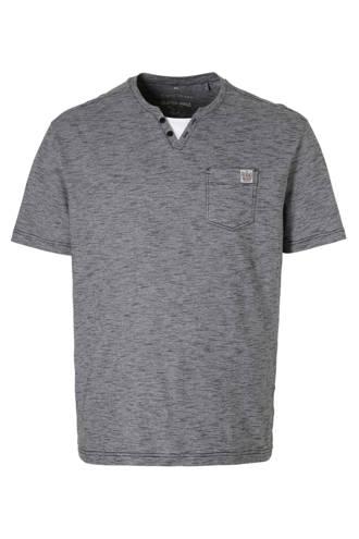 XL Angelo Litrico gemêleerd T-shirt donkerblauw