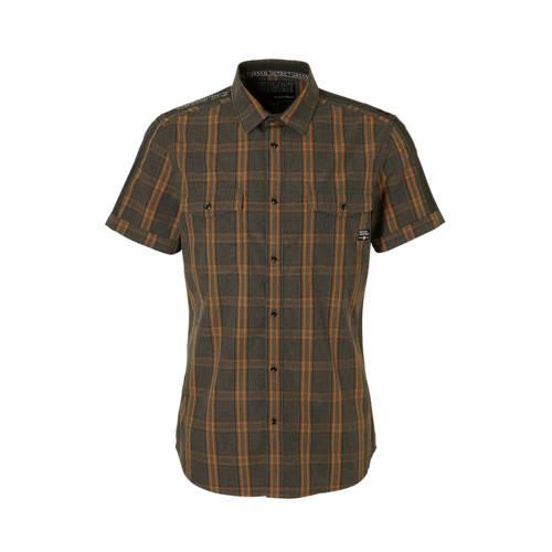 C&A Angelo Litrico geruit overhemd grijs