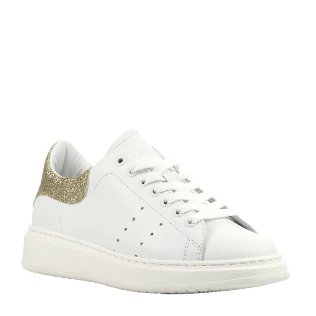 Hip  H1782 leren sneakers wit, Wit