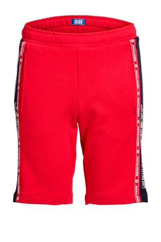 Junior sweatshort Maxit met zijstreep rood