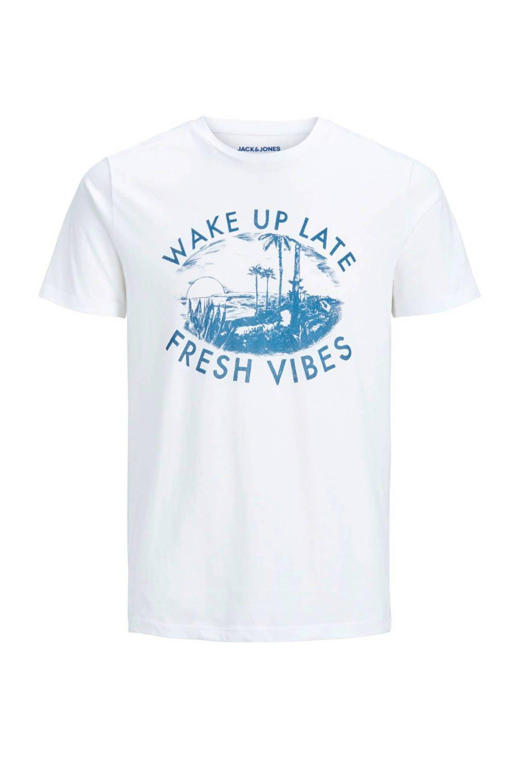 Jack & Jones Junior T-shirt Sunbaked wit, Wit