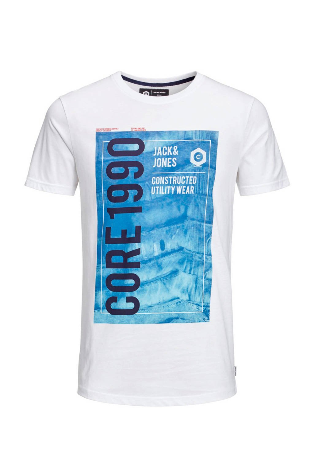 Jack & Jones Junior T-shirt Jordan wit, Wit