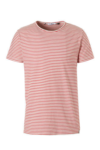 gestreept T-shirt rood