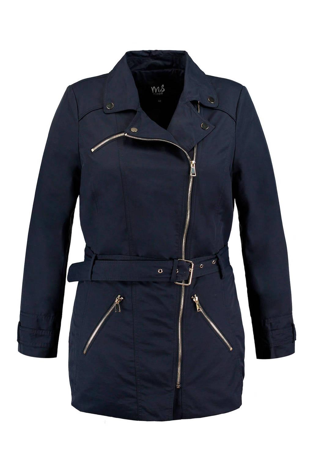 MS Mode trenchcoat donkerblauw, Donkerblauw