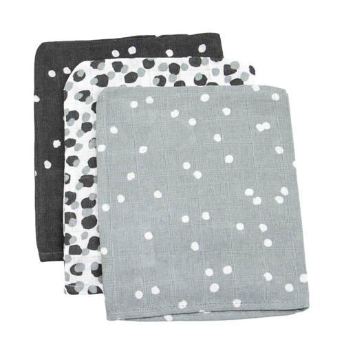 Briljant Baby hydrofiel washandje spots antra - set van 3