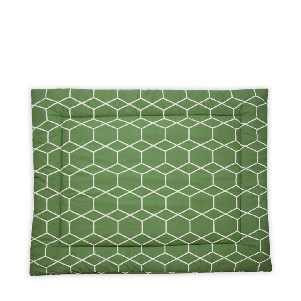 Briljant Baby boxkleed 80x100 cm grid forrest, Groen